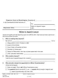 "Form GDN ALL021 ""Motion to Appoint Lawyer"" - Washington"