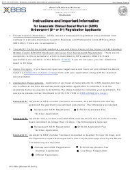 """Form 37A-520A """"Application for Subsequent Associate Clinical Social Worker Registration"""" - California"""