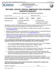 "Form 37M-473 ""Refugee/Asylee/Special Immigrant Visa Holders Expedite Request"" - California"