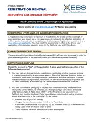 "Form 37M-408 ""Application for Registration Renewal"" - California"