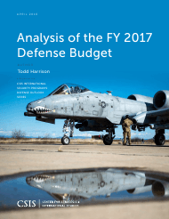"""Analysis of the Fy 2017 Defense Budget - Todd Harrison, Csis"""
