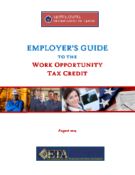 """""""Employer's Guide to the Work Opportunity Pportunity Tax Credit"""""""