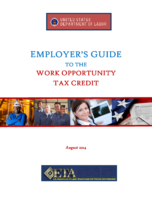 """""""Employer's Guide to the Work Opportunity Pportunity Tax Credit"""" Download Pdf"""