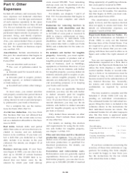 """Instructions for IRS Form 1040 Schedule C """"Profit or Loss From Business"""", Page 16"""