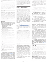 """Instructions for IRS Form 1040 Schedule C """"Profit or Loss From Business"""", Page 6"""