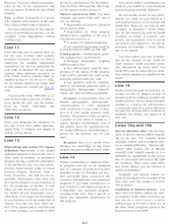 """Instructions for IRS Form 1040 Schedule C """"Profit or Loss From Business"""", Page 7"""