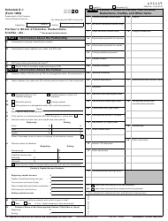 """IRS Form 1065 Schedule K-1 """"Partner's Share of Income, Deductions, Credits, Etc."""", 2020"""