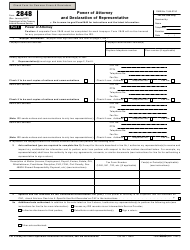 "IRS Form 2848 ""Power of Attorney and Declaration of Representative"""