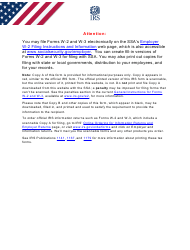 """IRS Form W-3SS """"Transmittal of Wage and Tax Statements"""""""