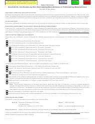 """Form CTP-124 """"Checklist for Certification by Non-participating Manufacturers or Participating Manufacturers"""" - Wisconsin"""