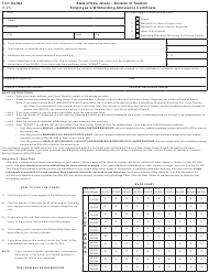"""Form NJ-W4 """"Employee's Withholding Allowance Certificate"""" - New Jersey"""