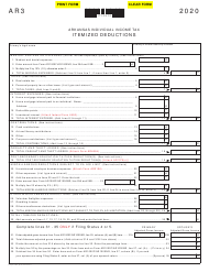 "Form AR3 ""Itemized Deductions"" - Arkansas, 2020"