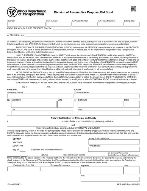 Form AER356B Printable Pdf