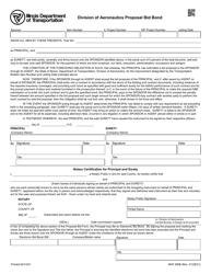 "Form AER356B ""Division of Aeronautics Bid Bond"" - Illinois"