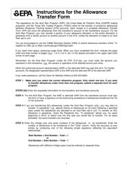 "EPA Form 7610-6 ""Allowance Transfer Form"""