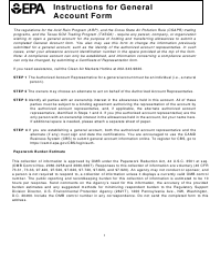 "EPA Form 7610-5 ""General Account Form"""