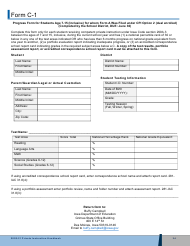"Form C-1 ""Progress Form for Students Age 7-15 (Inclusive) for Whom Form a Was Filed Under Cpi Option 2 (Dual Enrolled)"" - Iowa, 2021"