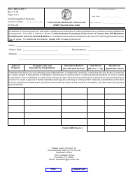 "Form AOC-MED-ADR-1 ""Continuing Mediator Education (Cme) Reporting Form"" - Kentucky"