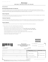 """Form 80-106 """"Mississippi Individual/Fiduciary Income Tax Payment Voucher"""" - Mississippi"""