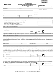 """Form 80-115 (MS8453-IIT) """"Individual Income Tax Declaration for Electronic Filing"""" - Mississippi, 2020"""