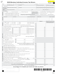 "Form 2 ""Montana Individual Income Tax Return"" - Montana, 2020"