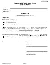 """Form NHJB-3062-D """"Appearance"""" - New Hampshire"""