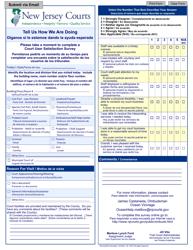 "Form 10673 ""Court User Satisfaction Survey - Ocean"" - New Jersey (English/Spanish)"