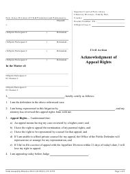 """Form 11553 """"Acknowledgment of Appeal Rights"""" - New Jersey"""