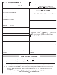 "Form AOC-CR-350 ""Appellate Entries"" - North Carolina"