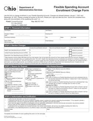 """Flexible Spending Account Enrollment Change Form"" - Ohio, 2021"