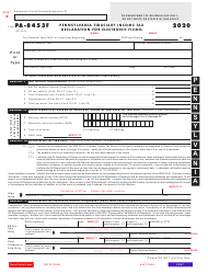"Form PA-8453F ""Pennsylvania Fiduciary Income Tax Declaration for Electronic Filing"" - Pennsylvania"