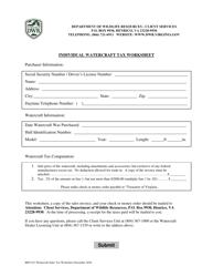 "Form BRT-013 ""Individual Watercraft Tax Worksheet"" - Virginia"