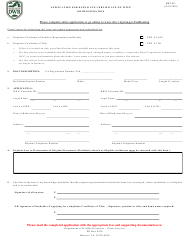 """Form BRT-011 """"Application for Duplicate Certificate of Title or Registration"""" - Virginia"""