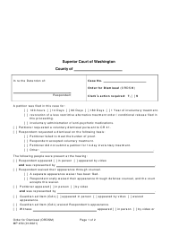 "Form MP450 ""Order for Dismissal (Ordsm)"" - Washington"
