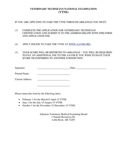 """""""Veterinary Technician National Examination (Vtne)"""" - Arkansas Download Pdf"""