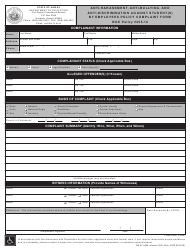 """Form RS21-0483 """"Anti-harassment, Anti-bullying, and Anti-discrimination Against Student(S) by Employees Policy Complaint Form"""" - Hawaii"""