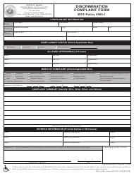 """Discrimination Complaint Form"" - Hawaii"