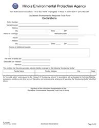 "Form IL532 3061 (LPC715) ""Drycleaner Environmental Response Trust Fund Declarations"" - Illinois"