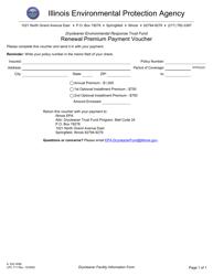 "Form IL532 3058 (LPC711) ""Drycleaner Environmental Response Trust Fund Renewal Premium Payment Voucher"" - Illinois"