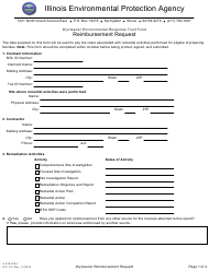 "Form IL532 3054 (LPC707) ""Drycleaner Environmental Response Trust Fund Reimbursement Request"" - Illinois"