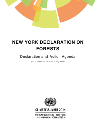 """New York Declaration on Forests - Action Statements and Action Plans"""