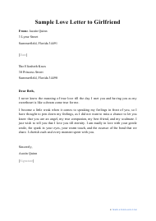"Sample ""Love Letter to Girlfriend"""
