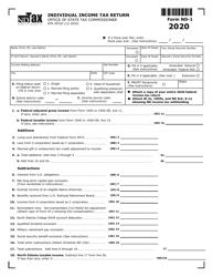 "Form ND-1 (SFN28702) ""Individual Income Tax Return"" - North Dakota, 2020"