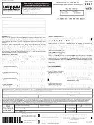 "Form L-1 (R-1201) ""First Quarter Employer's Return of Louisiana Withholding Tax"" - Louisiana, 2021"