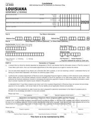 "Form R-8453 (LA8453) ""Individual Income Tax Declaration for Electronic Filing"" - Louisiana, 2020"