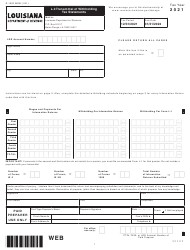 "Form L-3 (R-1203) ""Transmittal of Withholding Tax Statements"" - Louisiana, 2021"