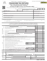 "Form F-1 ""Franchise Tax Return - Banks, Other Financial Corporations, and Small Business Investment Companies"" - Hawaii, 2021"