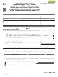 """Form M-68 """"Application for Extension of Time to File Hawaii Estate Tax Return (Form M-6) or Hawaii Generation-Skipping Transfer Tax Return (M-6gs) and/or Pay Hawaii Estate (And Generation-Skipping Transfer) Taxes"""" - Hawaii"""