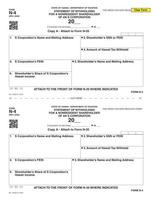 Form N-4 Printable Pdf