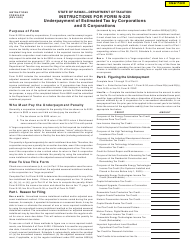 """Instructions for Form N-220 """"Underpayment of Estimated Tax by Corporations and S Corporations"""" - Hawaii"""